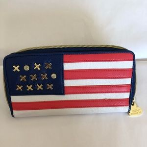 Betsey Johnson Red White & Blue Wallet